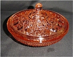 Click here to enlarge image and see more about item 121s: Libbey Peach Color Windsor Candy Dish