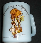 Click here to enlarge image and see more about item 1223s: Federal Glass Holly Hobbie Orange Mug