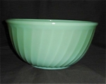 Click here to enlarge image and see more about item 1225s: Fire King Jadite Swirl Mixing Bowl