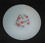 Click here to enlarge image and see more about item 1240s: Fire King Fleurette Dinner Plate
