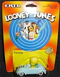 Click here to enlarge image and see more about item 1246s: 1989 Ertl Looney Tunes Tweety Die-cast Car