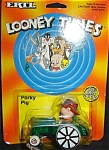 Click here to enlarge image and see more about item 1248s: 1989 Ertl Looney Tunes Porky Pig Die-cast Car