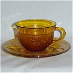 Click here to enlarge image and see more about item 1259: Anchor Hocking Sandwich Cup and Saucer