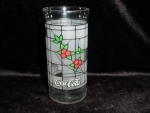 Click here to enlarge image and see more about item 125: Coca Cola Holiday Drinking Glass