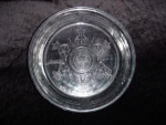 Click here to enlarge image and see more about item 126: Fire King Sapphire Blue Pie Plate