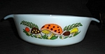 Click here to enlarge image and see more about item 1282s: Fire King Merry Mushroom  Dish