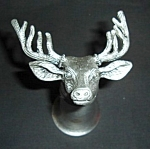 Click here to enlarge image and see more about item 1295s: Jagermeister Pewter Deer Shot Glass