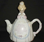Click here to enlarge image and see more about item 1321s: Precious Moments Tea pot