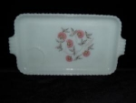 Click here to enlarge image and see more about item 132: Fire King Fleurette Snack Serving Tray