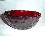 Anchor Hocking Bubble Ruby Red Bowl