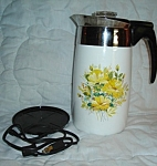 Click here to enlarge image and see more about item 1370s: Corning Ware Electric Coffee Pot