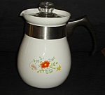 Click here to enlarge image and see more about item 1371s: Corning Ware 6 Cup Coffee Pot