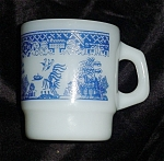 Click here to enlarge image and see more about item 1373: Blue Willow Fire King  Mug