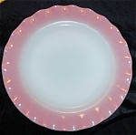 Click here to enlarge image and see more about item 1389: Hazel Atlas Pink Ripple Plate