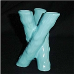 Click here to enlarge image and see more about item 139s: Blue Bamboo Porcelain Vase