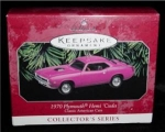Click here to enlarge image and see more about item 13h: Hallmark Ornament 1970 Plymouth Hemi Cuda