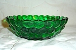Click here to enlarge image and see more about item 1442s: Anchor Hocking Green Bubble Bowl