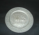 Click here to enlarge image and see more about item 1465s:  Hallmark Pewter  Plate