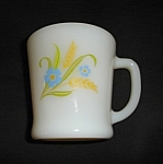 Click here to enlarge image and see more about item 1468s: Fire King Rare Forget Me Not Mug
