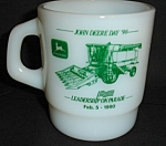 Milk Glass John Deere Mug