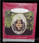 Click here to enlarge image and see more about item 149h: 1998 1st Christmas Together Hallmark Ornament