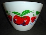 Click here to enlarge image and see more about item 1504s: Fire King Apple & Cherries Mixing Bowl