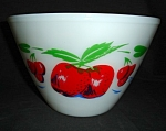 Click here to enlarge image and see more about item 1505s: Fire King  Mixing Bowl Apple