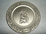 Click here to enlarge image and see more about item 1514s: Hallmark  Little Gallery Pewter Plate