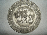 Click here to enlarge image and see more about item 1516s: Hallmark  Little Gallery Pewter Plate