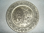 Click here to enlarge image and see more about item 1518s: Hallmark  Little Gallery Pewter Plate