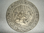 Click here to enlarge image and see more about item 1519s: Hallmark  Little Gallery Pewter Plate