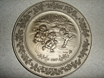 Click here to enlarge image and see more about item 1521s: Hallmark  Little Gallery Pewter Plate