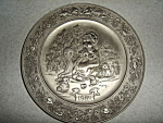 Click here to enlarge image and see more about item 1523s: Hallmark  Little Gallery Pewter Plate
