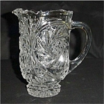 Click here to enlarge image and see more about item 154s: Crystal Glass Pitcher
