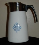 Click here to enlarge image and see more about item 157a: Corning Ware Cornflower Coffee pot 10 cup