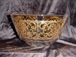 Click here to enlarge image and see more about item 169: Georges Briard Gold Overlay Bowl