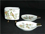 Click here to enlarge image and see more about item 179s: Vintage Ashtrays and Match Holder
