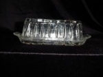 Click here to enlarge image and see more about item 181: Anchor Hocking Butter Dish