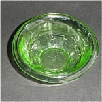 Click here to enlarge image and see more about item 182s: Hazel Atlas Depression Glass Mixing Bowl