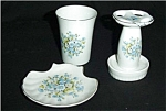 Click here to enlarge image and see more about item 185s: Toothbrush Holder, Soap Dish and Cup Set