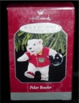 "Click here to enlarge image and see more about item 18h: Hallmark Ornament ""Polar Bowler"""