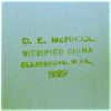 Click to view larger image of D.E McNichol Vitrified China Bowl (Image2)
