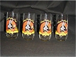 Click here to enlarge image and see more about item 192s: Happy Birthday Bugs Drinking Glasses ( 4 )