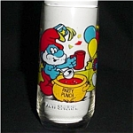 Click here to enlarge image and see more about item 193s: Papa Smurf Libbey Drinking Glass