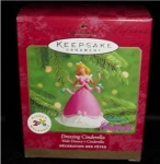 Click here to enlarge image and see more about item 196h: Dressing Cinderella Hallmark Ornament