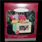 Click here to enlarge image and see more about item 19h: Hallmark Ornament Baby's First Christmas