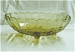 Click here to enlarge image and see more about item 19s: Indiana Glass Amber Fruit Bowl