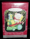 Click here to enlarge image and see more about item 20h: Baby's First Christmas 1998 Hallmark Ornament