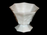 Click here to enlarge image and see more about item 212: Panel Grape Milk Glass Planter
