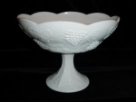 Colony Style Milk Glass Fruit Bowl